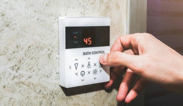 controle temperature bain turc hammam