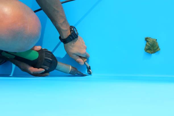 réparer liner piscine